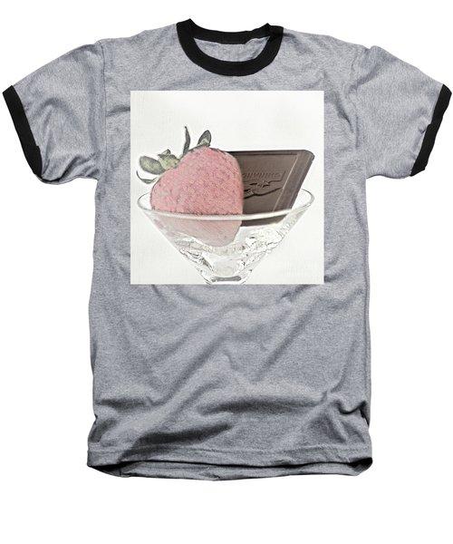 Chocolate And Strawberry Martini Baseball T-Shirt