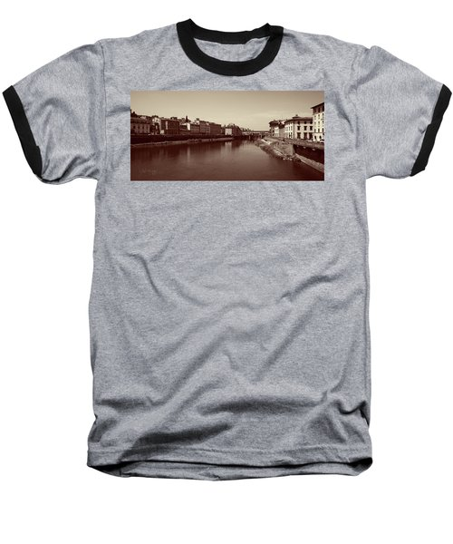 Chocolate Florence Baseball T-Shirt by Joseph Westrupp