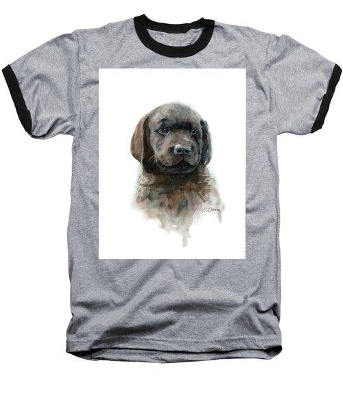Chocolate Lab Puppy Baseball T-Shirt