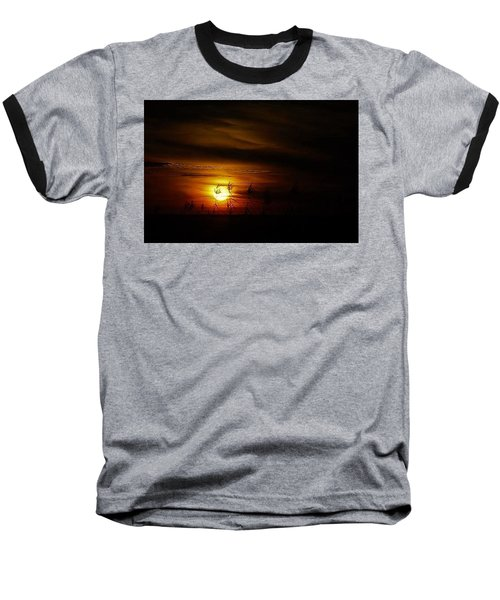 Baseball T-Shirt featuring the photograph Chocolate  Sunset by John Glass