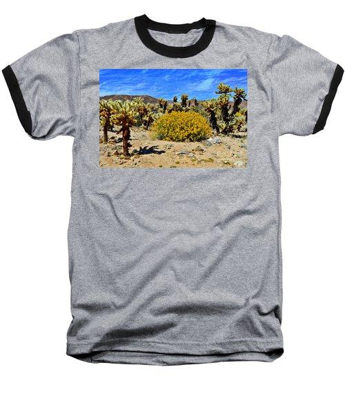 Cholla Garden Of Joshua Tree National Park Baseball T-Shirt by Glenn McCarthy Art and Photography
