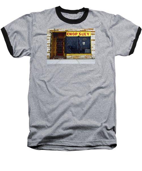 Chop Suey Baseball T-Shirt by David Gilbert