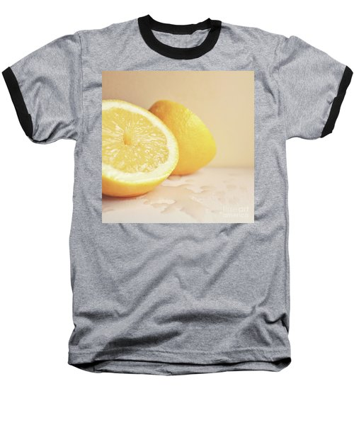 Baseball T-Shirt featuring the photograph Chopped Lemon by Lyn Randle