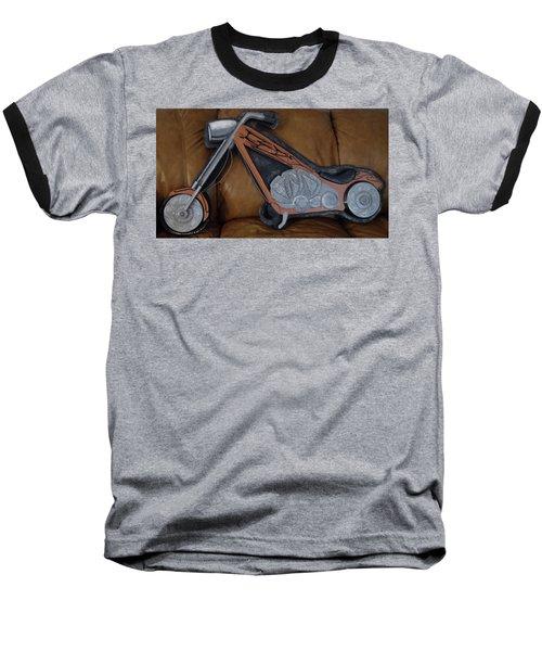 Chopper Baseball T-Shirt by Val Oconnor