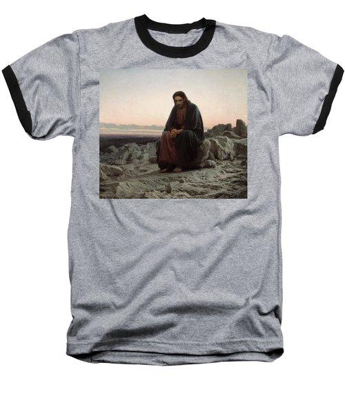 Christ In The Desert Baseball T-Shirt