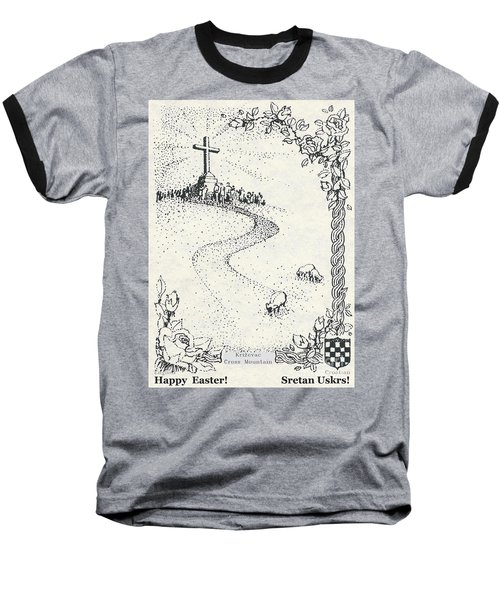 Baseball T-Shirt featuring the photograph Christ Is Risen  by Christina Verdgeline