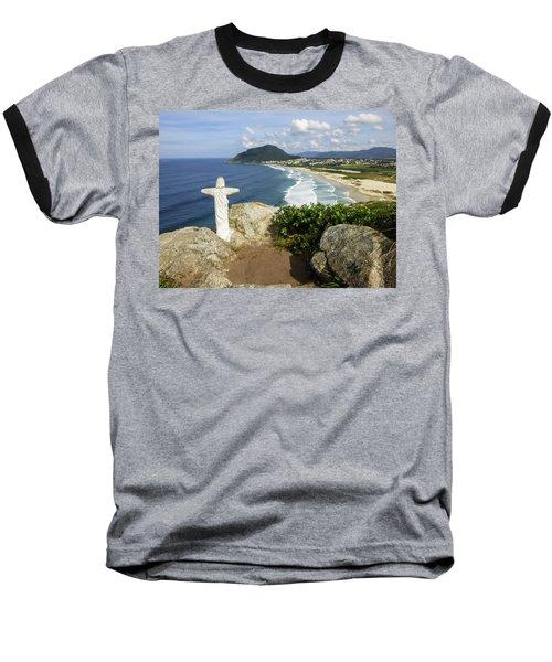 Christ Viewpoint At A Beach In Florianopolis, Brazil Baseball T-Shirt