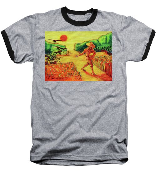 Baseball T-Shirt featuring the painting Christian Art Parable Of The Sower Artwork T Bertram Poole by Thomas Bertram POOLE