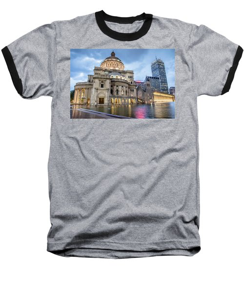 Baseball T-Shirt featuring the photograph Christian Science Center In Boston by Peter Ciro