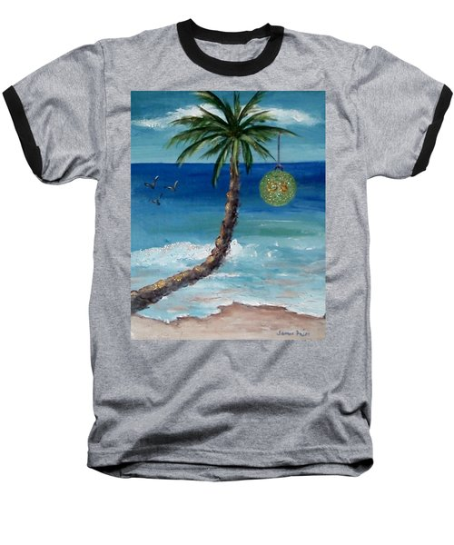 Baseball T-Shirt featuring the painting Christmas 2008 by Jamie Frier