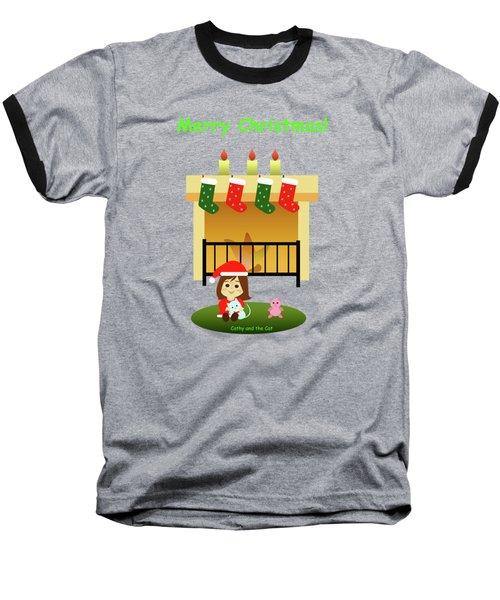 Christmas #4 And Text Baseball T-Shirt
