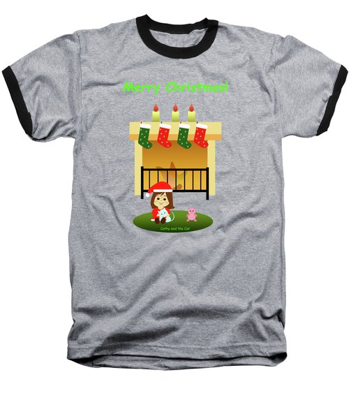 Christmas #4 And Text Baseball T-Shirt