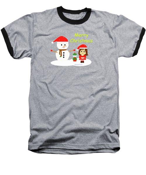 Christmas #5 And Text Baseball T-Shirt
