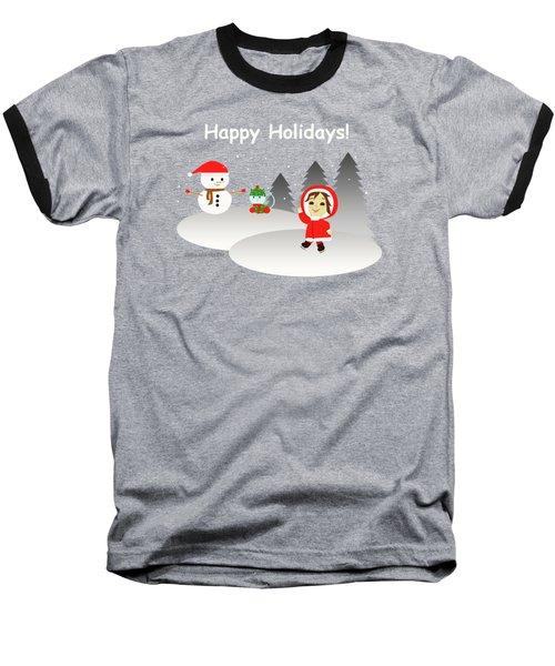 Christmas #6 And Text Baseball T-Shirt