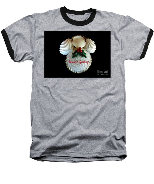 Christmas Angel Greeting Baseball T-Shirt