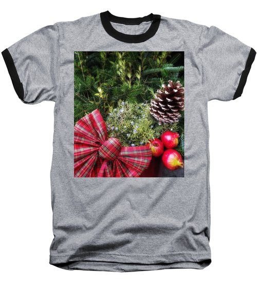 Christmas Arrangement Baseball T-Shirt