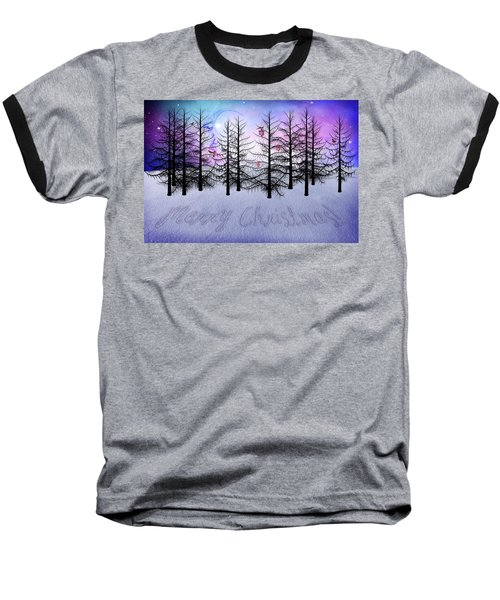 Christmas Bare Trees Baseball T-Shirt