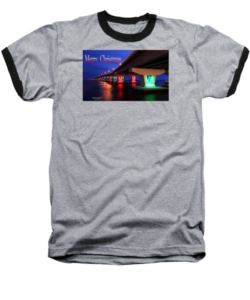 Christmas Bridge Baseball T-Shirt