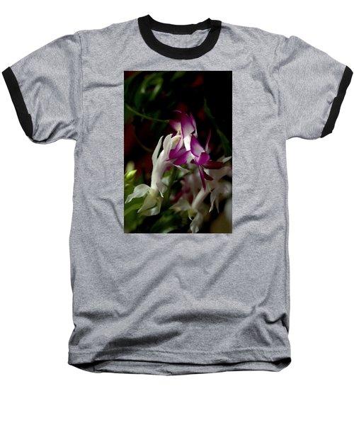 Baseball T-Shirt featuring the photograph Christmas Cactus by B Wayne Mullins
