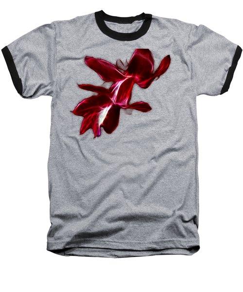 Christmas Cactus Flower Baseball T-Shirt