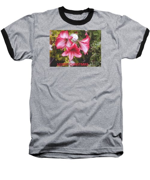 Christmas Card - Amorillis Baseball T-Shirt