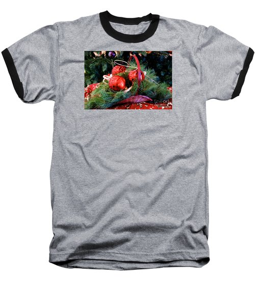 Christmas Centerpiece Baseball T-Shirt by Vinnie Oakes