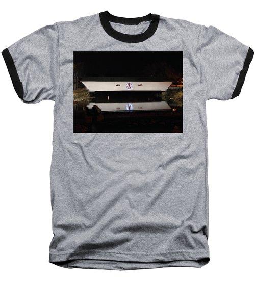 Christmas Covered Bridge Baseball T-Shirt
