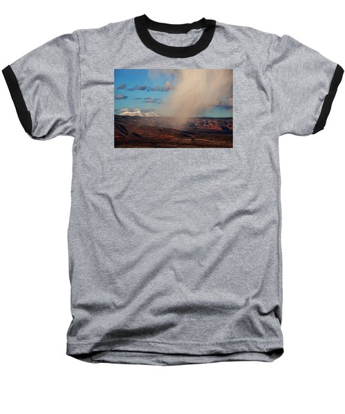 Baseball T-Shirt featuring the photograph Christmas Day Snow Mix San Francisco Peaks by Ron Chilston
