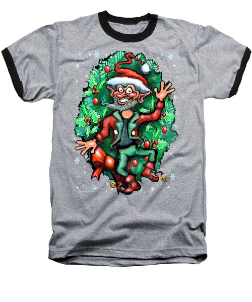 Christmas Elf Baseball T-Shirt