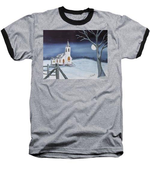 Christmas Eve Baseball T-Shirt by Jack G Brauer