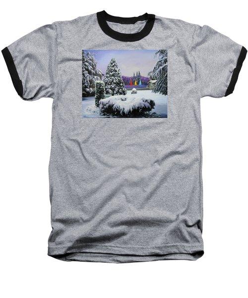 Silent Night Baseball T-Shirt by Richard Barone