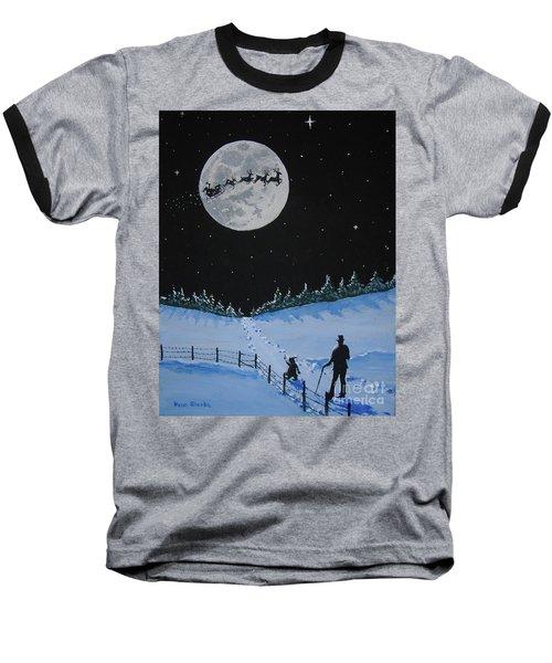 Christmas Eve Stroll Baseball T-Shirt