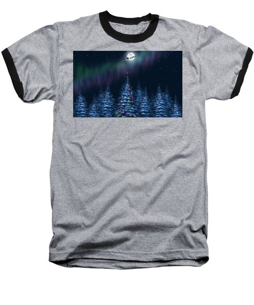 Baseball T-Shirt featuring the painting Christmas Eve by Veronica Minozzi