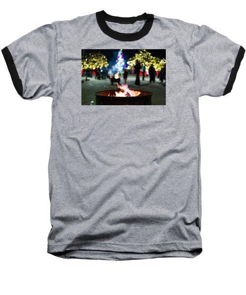 Christmas Fire Pit Baseball T-Shirt