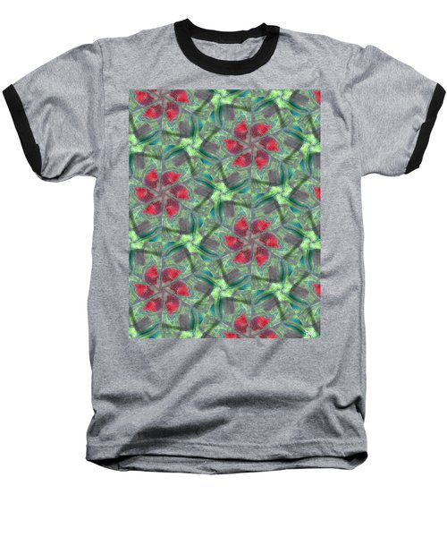 Christmas Flowers Baseball T-Shirt by Maria Watt