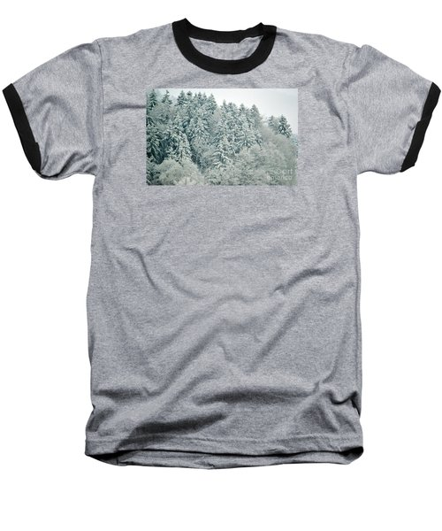 Baseball T-Shirt featuring the photograph Christmas Forest - Winter In Switzerland by Susanne Van Hulst