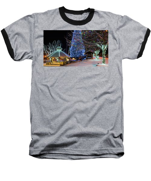 Baseball T-Shirt featuring the photograph Christmas In Leavenworth by Dan Mihai