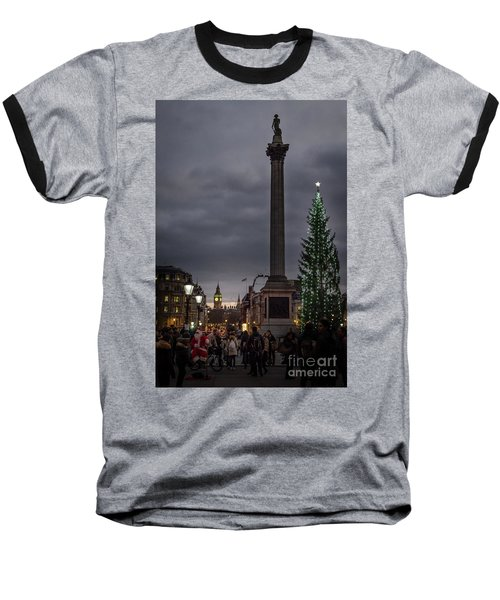 Christmas In Trafalgar Square, London Baseball T-Shirt
