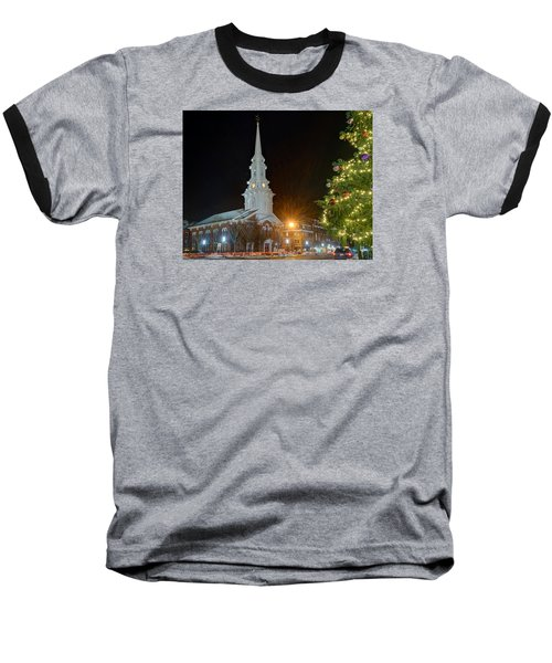 Christmas In Market Square Baseball T-Shirt