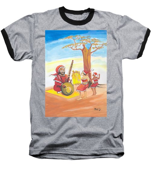 Christmas In Senegal Baseball T-Shirt by Emmanuel Baliyanga