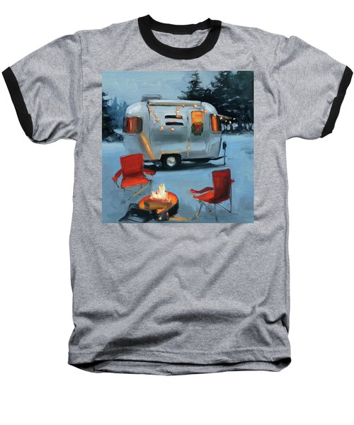 Christmas In The Snow Baseball T-Shirt