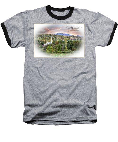 Christmas In Vermont Baseball T-Shirt