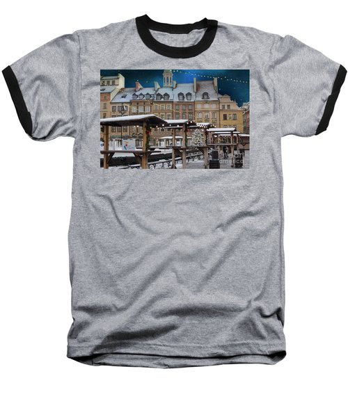 Baseball T-Shirt featuring the photograph Christmas In Warsaw by Juli Scalzi