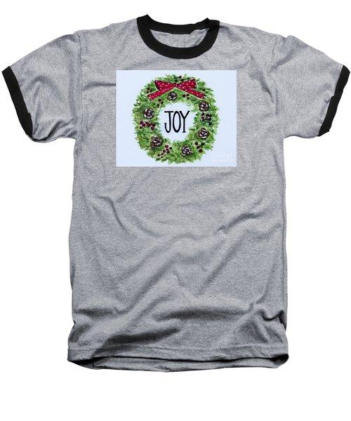 Christmas Joy Baseball T-Shirt by Elizabeth Robinette Tyndall