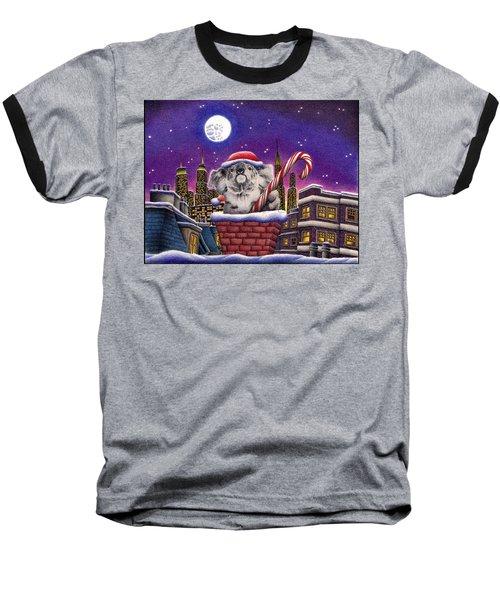 Christmas Koala In Chimney Baseball T-Shirt