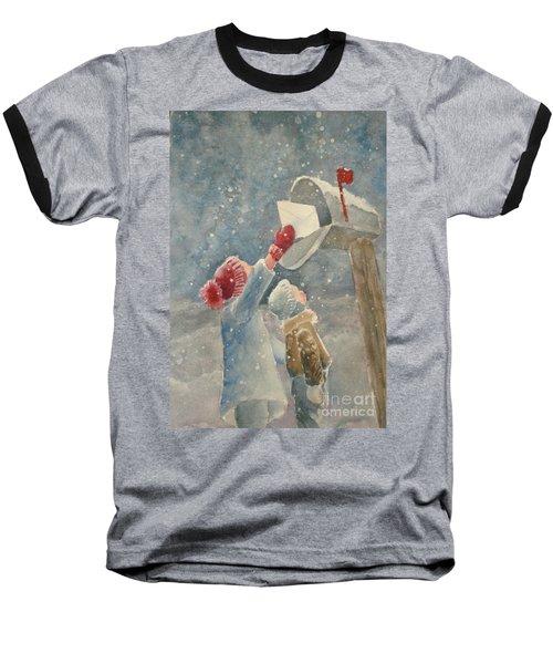 Christmas Letter Baseball T-Shirt