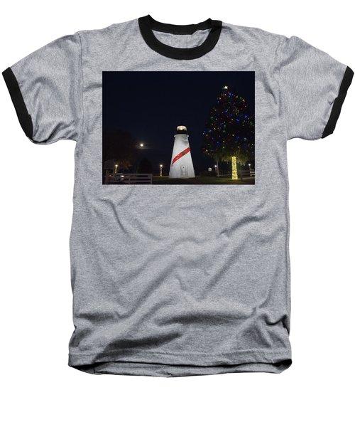 Christmas Lighthouse Baseball T-Shirt