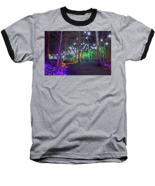 Christmas Lights Decoration Along Lafarge Lake Path Baseball T-Shirt