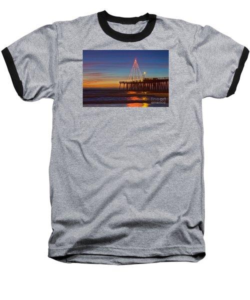 Christmas Lights On The Pismo Pier Baseball T-Shirt