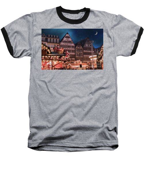 Baseball T-Shirt featuring the photograph Christmas Market by Juli Scalzi